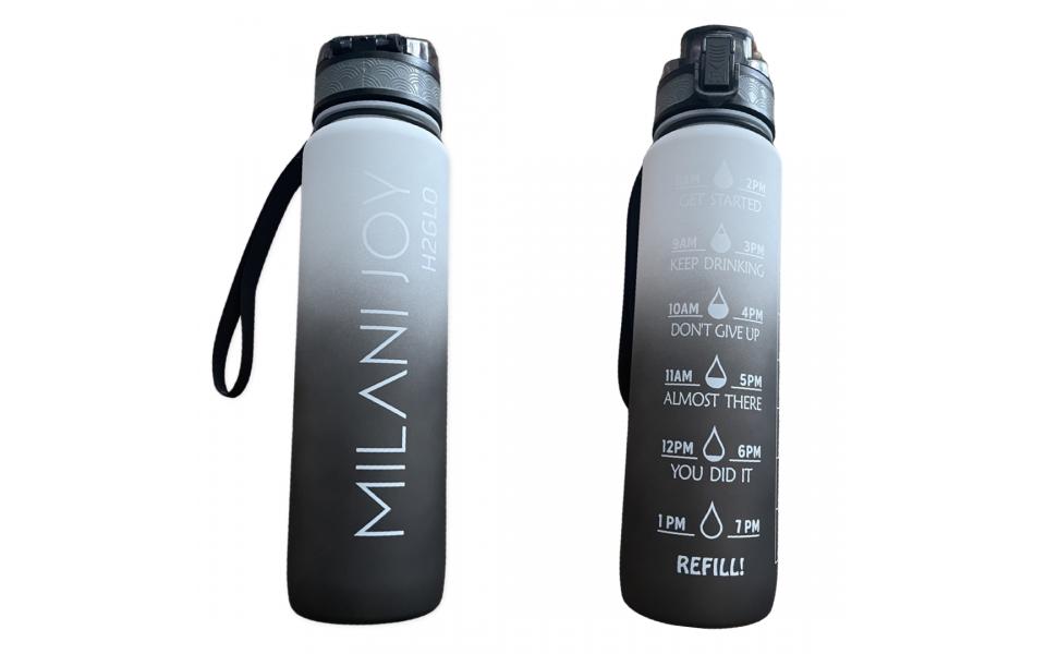 H2 GLO WATER BOTTLE COAL
